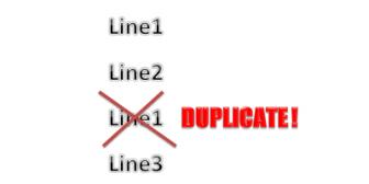 Rimuovere righe doppie in file txt