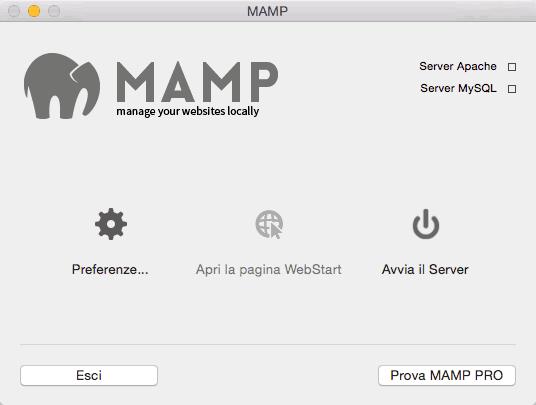 configurare MAMP