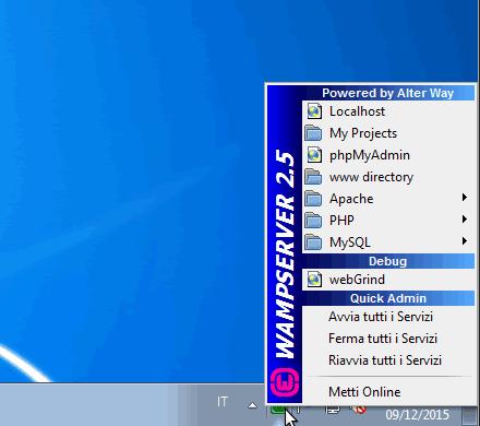 configurare WAMP
