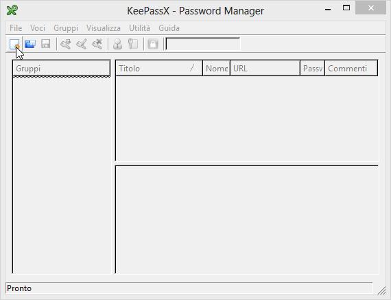 memorizzare le password con KeePass - Avvio