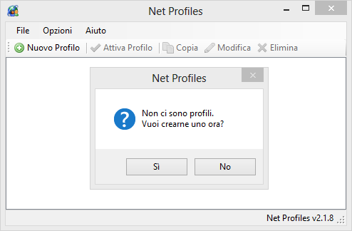 Configurare la rete con NetProfiles