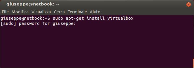 installare VirtualBox su Ubuntu