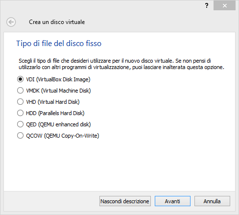 installare ubuntu su virtualbox