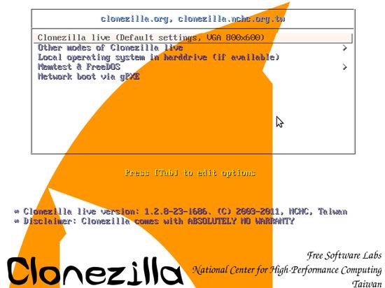 clonare un hard disk con Clonezilla