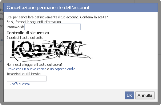 cancellarti da facebook