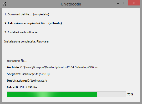 installare linux da chiavetta usb