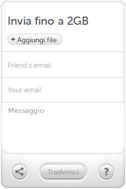 inviare grandi file via email