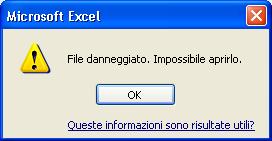 creare un file danneggiato