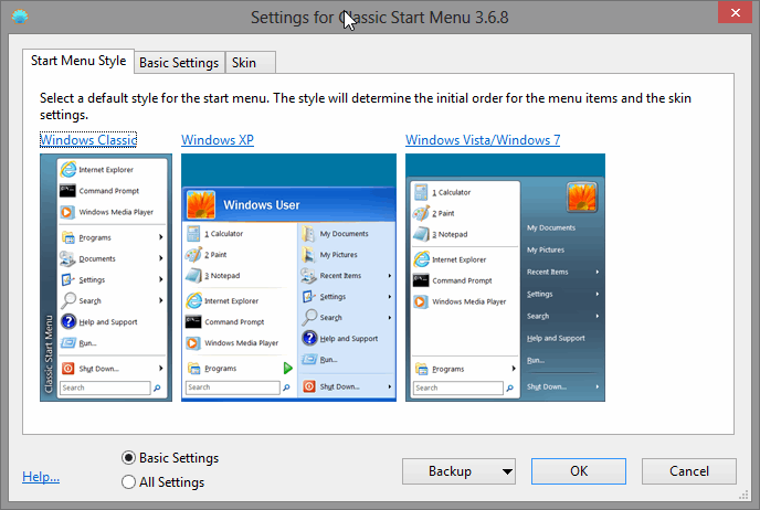 riattivare menù start in windows 8