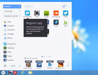 ripristinare menù start in windows 8