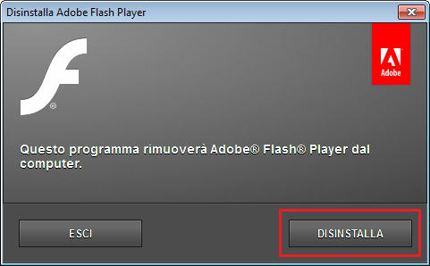 disinstalla flash per continuare ad usare windows xp