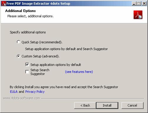 come estrarre immagini da PDF installazione