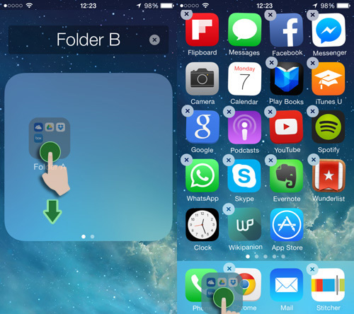 come nascondere app o cartelle iphone