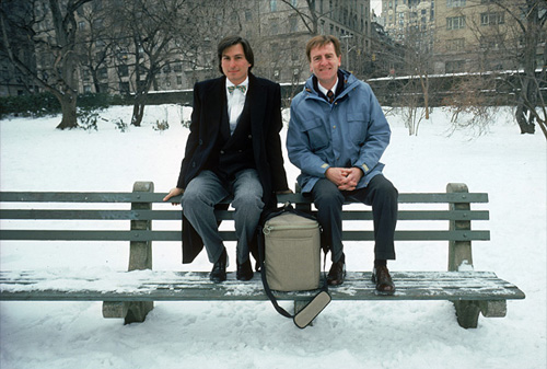 Jobs con John Sculley a Central Park, 1984