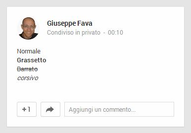 GooglePlus_formattazione_testo