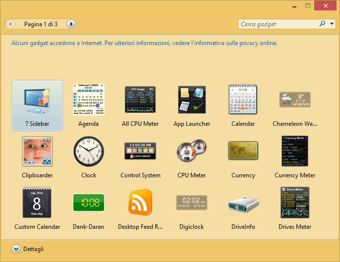 Installare Gadget Desktop in Windows 8