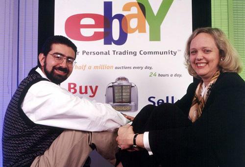 Il fondatore di eBay con l'amministratore delegato, circa 1998