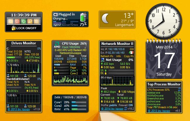 Installare Gadget Desktop in Windows 8