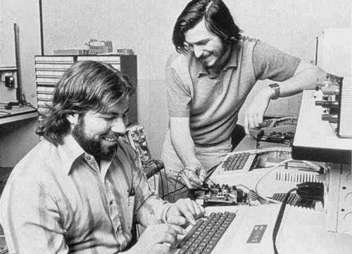 Steve Jobs e Woz, circa 1980