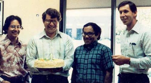 Ifondatori di Oracle festeggiano il loro primo anniversario, 1978