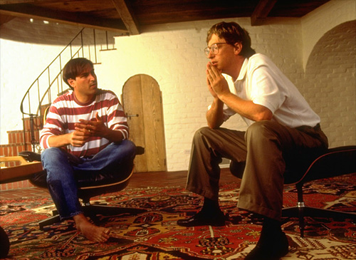 Fortune Magazine, Bill Gates e Steve Job's a casa di Jobs a Palo Alto 1991