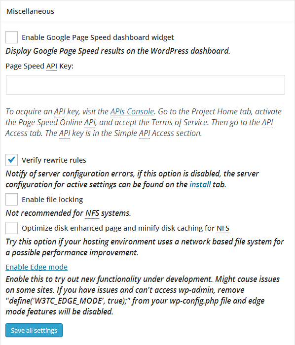 configurare wordpress