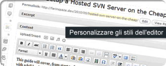 personalizzare stili wordpress
