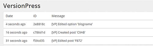 controllo versione wordpress