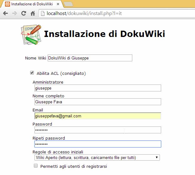 Come installare Wiki personale