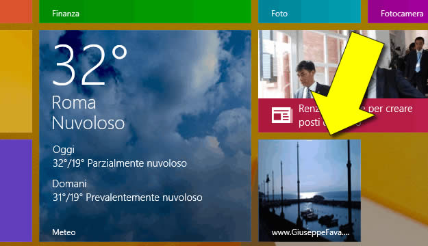 Come aggiungere icone start Windows 8