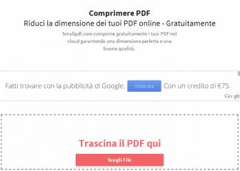 comprimere pdf senza installare programmi