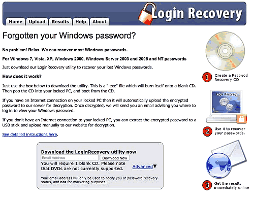 resettare password Windows
