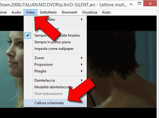 Come catturare schermate DVD o filmato