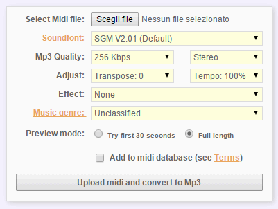 come convertire midi in mp3