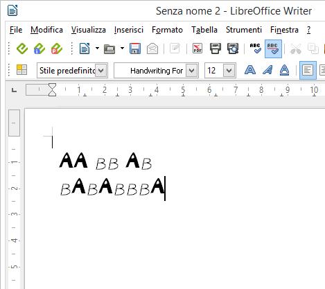 Come creare font