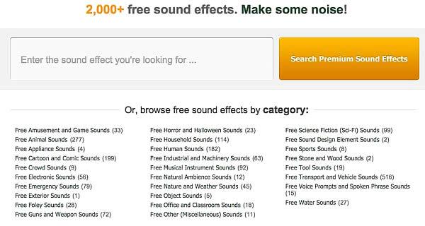 scaricare effetti sonori gratuiti