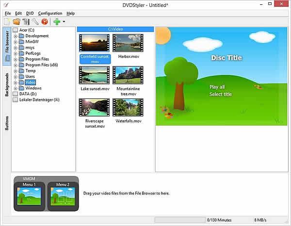 come creare menu dvd