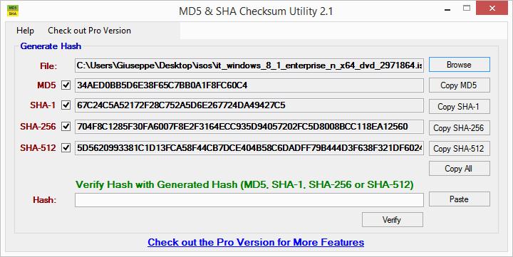 Cos'è checksum e come calcolarlo