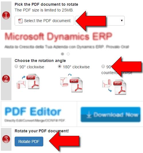 Come ruotare PDF