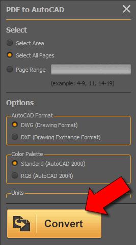 convertire PDF in autocad