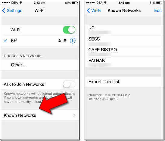Come Recuperare Password WiFi su iPhone/iPad