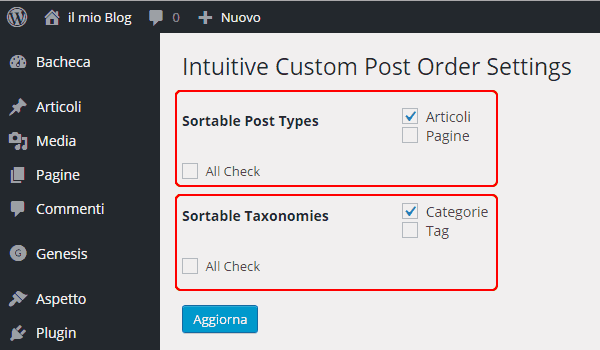 Come ordinare post wordpress
