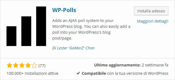 Creare questionari con wordpress