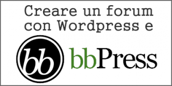 Creare un forum con wordpress