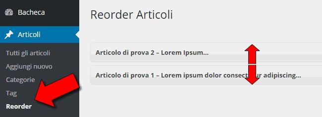 Come ordinare gli articoli in wordpress