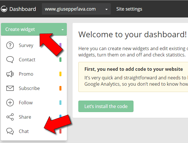 Come inserire chat in WordPress