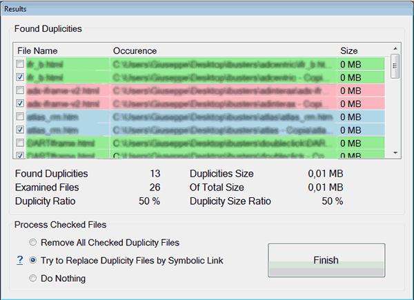 Come trovare file duplicati