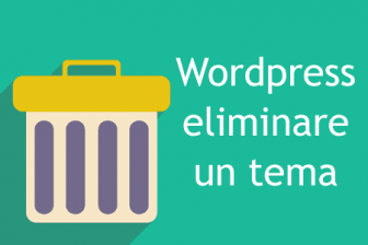 cancellare un tema wordpress