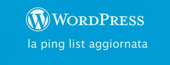 pinglist wordpress aggiornata