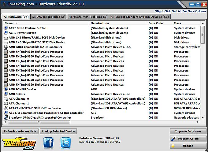 Come riconoscere hardware installato
